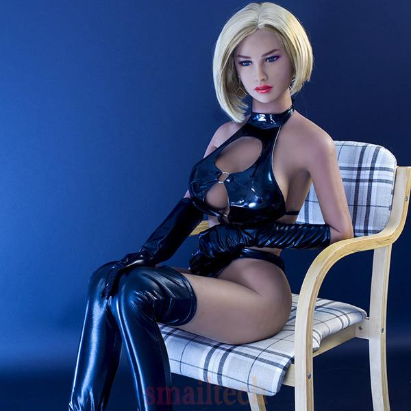 New 165cm real silicone sex dolls with me<x>tal skeleton cyberskin